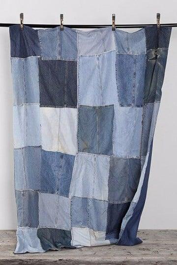 como hacer cortinas recicladas con jeans