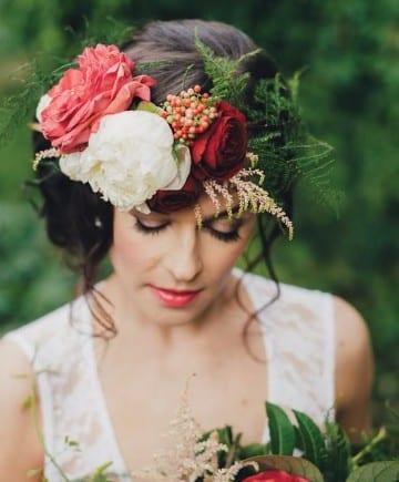 como hacer un tocado de flores naturales