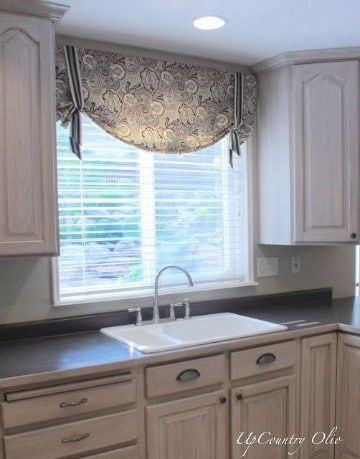 Modernas cortinas de tela para cocina peque a for Telas de cocina