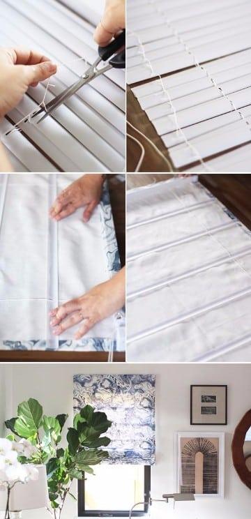 Originales cortinas hechas en casa para ventanas y ba os - Hacer cortinas en casa ...