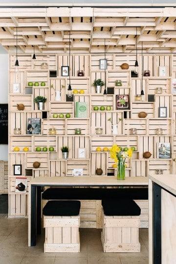 reciclado de cajones de verdura de madera