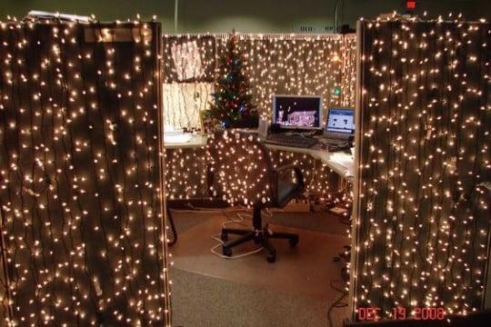 Manualidades y adornos navide os para oficina en el 2016 - Adornos navidenos para oficina ...