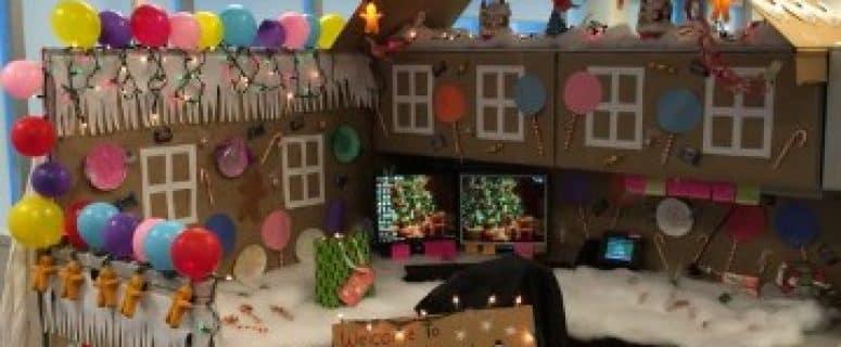 Adornos navideos para oficina al por mayor m guirnalda de for Adornos de navidad para oficina