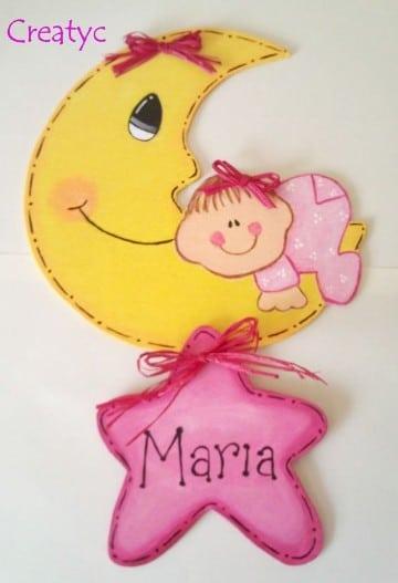 Como hacer manualidades y adornos para bebes recien for Recien nacido dibujo
