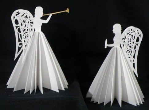 como hacer angelitos de papel origami