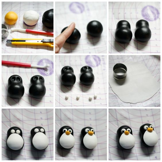 how to make a clay penguins