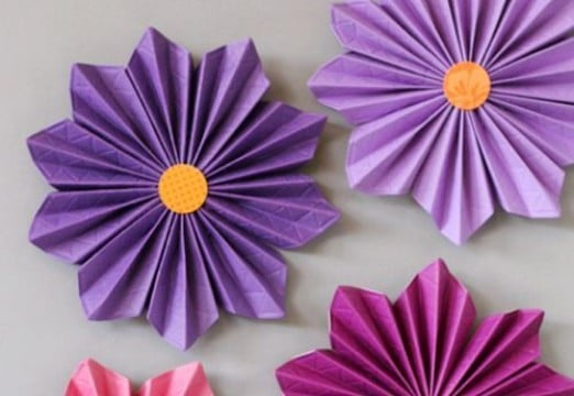 como hacer flores con papel china faciles