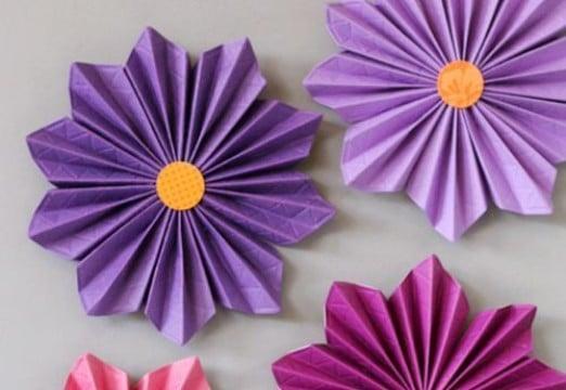 Faciles Papel Awesome Flores Fciles De Papel De Colores With