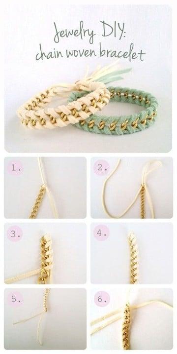 como hacer pulseras con cadenas de moda