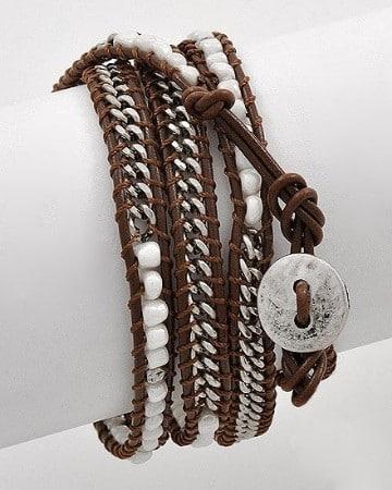 como hacer pulseras con cadenas y dijes