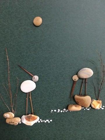 manualidades y cuadros hechos con piedras naturales