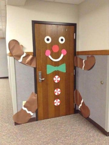 decoracion de navidad para oficina puertas