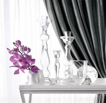 decorar jarrones de cristal altos floreros