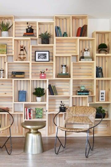 finest estanterias con cajas de madera paso a paso with estanterias con cajas de fruta - Estanterias Con Cajas