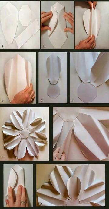 flores de cartulina faciles como hacer