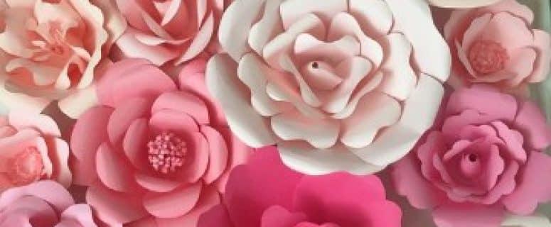 Moldes De Flores De Cartulina Faciles Paso A Paso