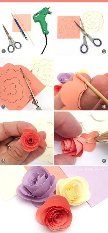 flores de cartulina faciles para decorar