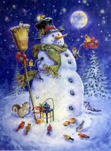 imagenes muñecos de nieve animados
