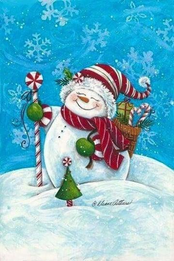 imagenes muñecos de nieve para dibujar