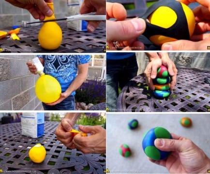 manualidades con harina con globos