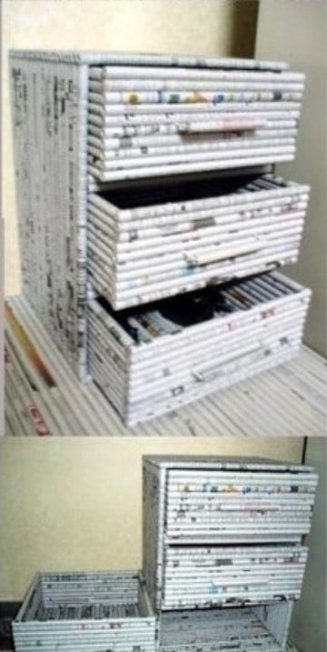 manualidades con papel de revistas periodico
