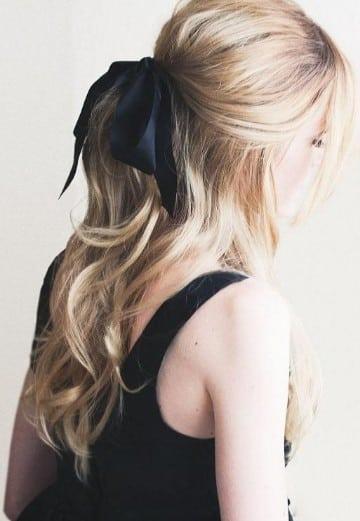 peinados para niña con liston cintas