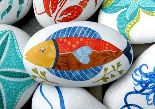 piedras pintadas de animales decoradas