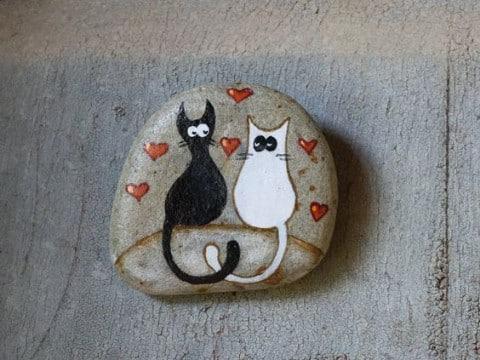 Piedras pintadas de animales decoradas para jardin for Figuras con piedras en jardines