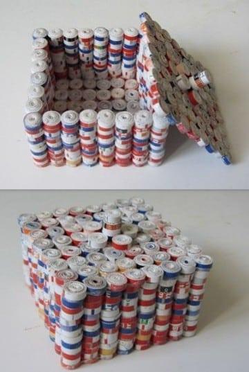 reciclaje con papel periodico para niños