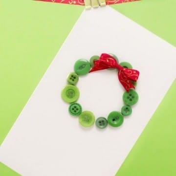 tarjetas navideñas con material reciclado artesanal
