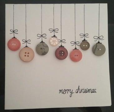 tarjetas para navidad hechas a mano creativa