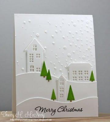 tarjetas para navidad hechas a mano elegantes