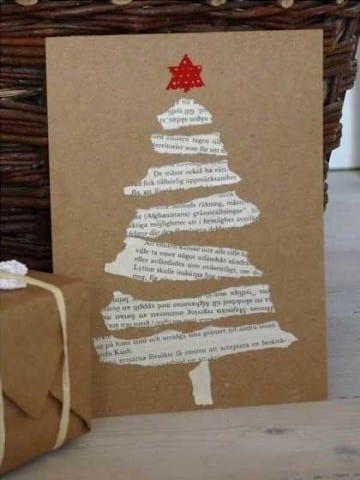 tarjetas para navidad hechas a mano faciles