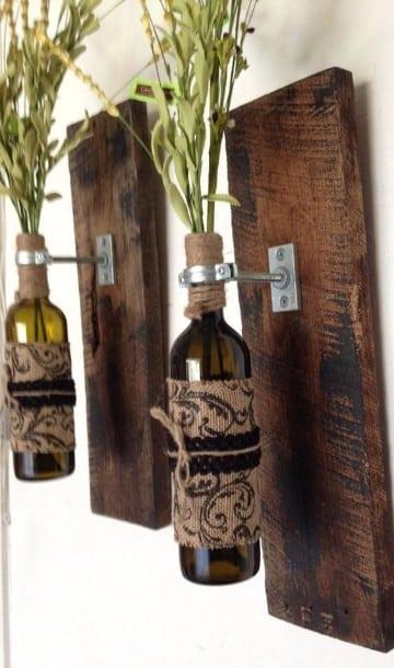 adornos de madera rusticos para casas
