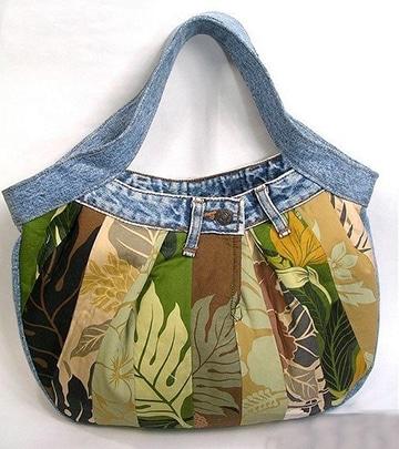 bolsos de jeans decorados hechas a mano