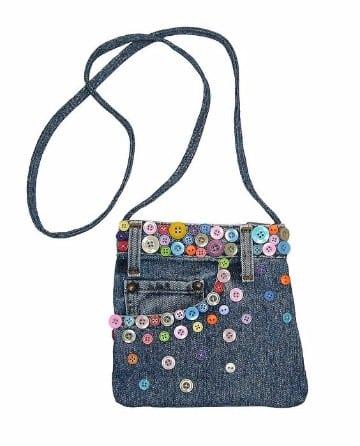 bolsos de jeans decorados paso a paso