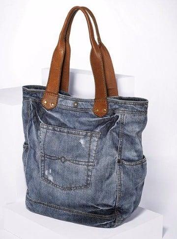 bolsos de jeans decorados viejos