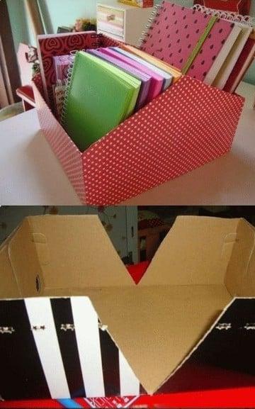 cajas organizadoras de carton como hacer