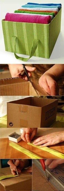 cajas organizadoras de carton tela