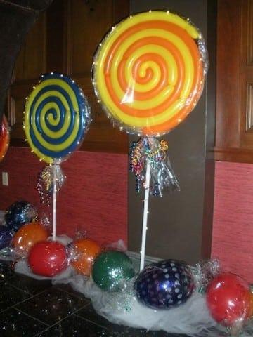 como decorar con globos largos espiral