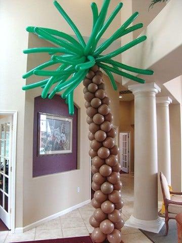 como decorar con globos largos fiestas infantiles