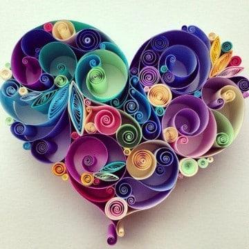 como hacer corazones de papel faciles bonitas