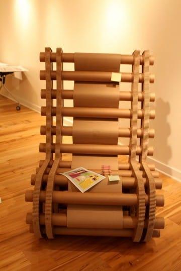 decoracion con tubos de carton duro