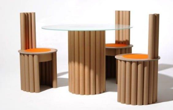 decoracion con tubos de carton grueso