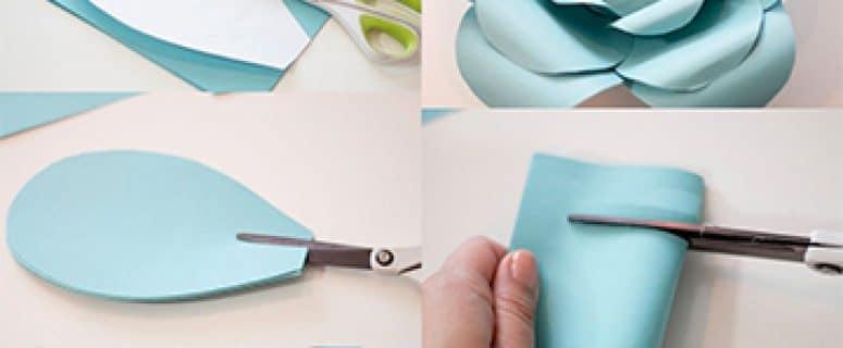 flores de cartulina para decorar | Manualidades para hacer en casa