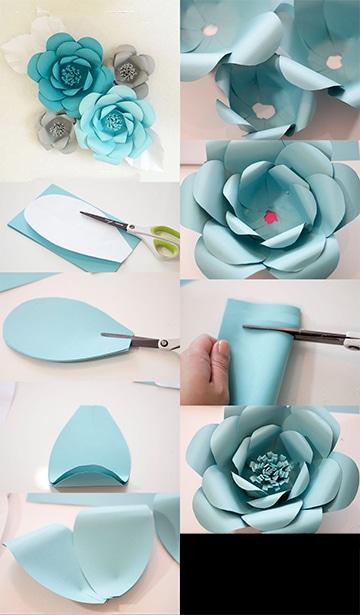 Como hacer flores de cartulina paso a paso para decorar for Decoraciones para hacer en casa