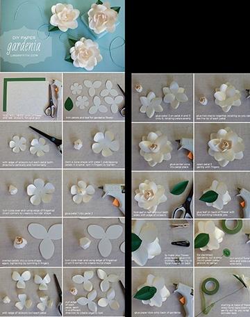 flores de cartulina paso a paso sencillos