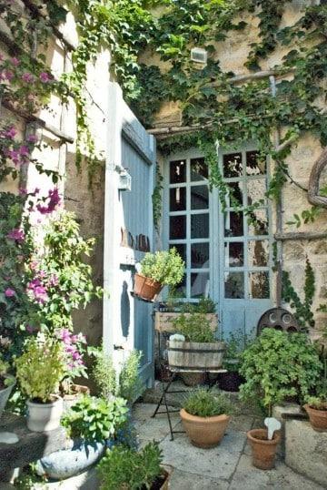jardines rusticos pequeños imagenes