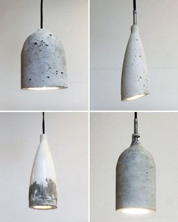 lampara de botellas de plastico vidrio