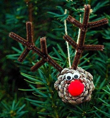 Como decorar con manualidades con pi as secas en navidad - Pinas de pino para decorar ...
